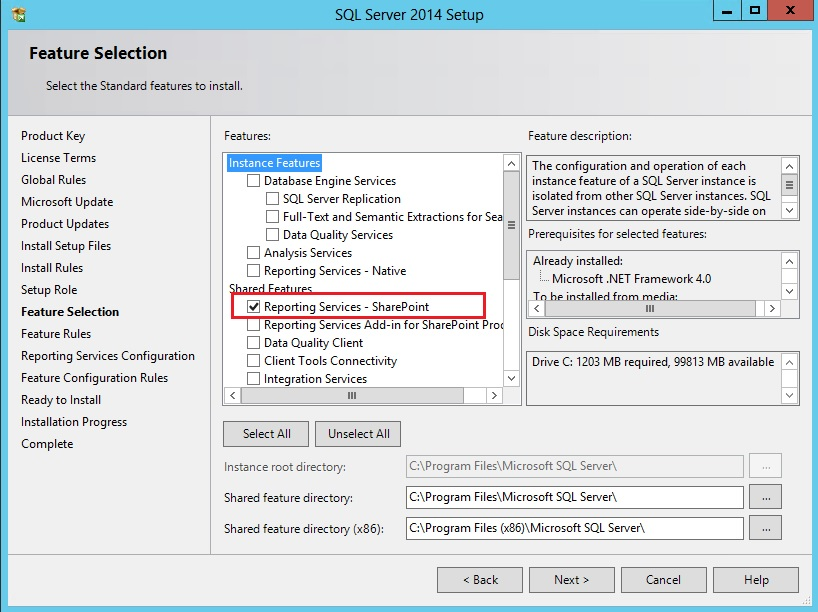 Install and configure Reporting Services 2014 for SharePoint 2013 (5/6)