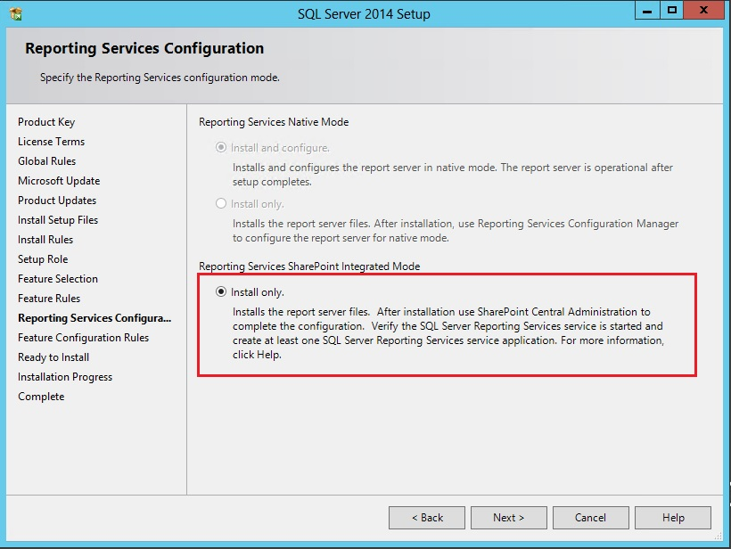 Install and configure Reporting Services 2014 for SharePoint 2013 (6/6)