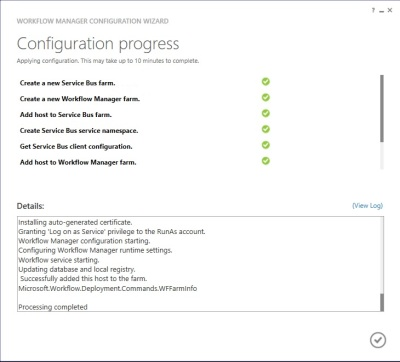 Workflow Manager - installation status
