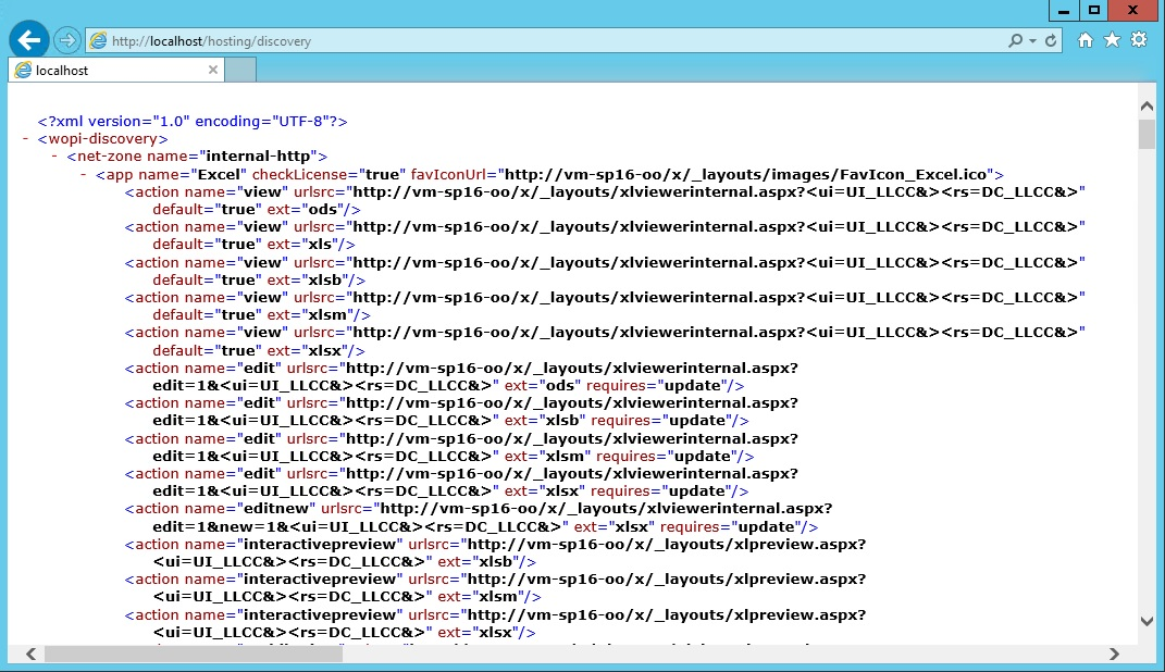 Lovely WOPI Discovery XML