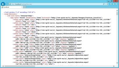 WOPI discovery XML